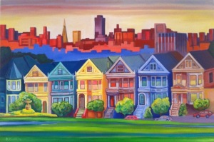 Painted Ladies San Francisco. By Mark Nolan 2012
