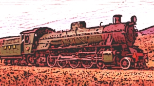 the red locomotive